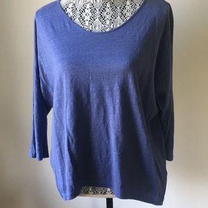 Eileen Fisher 3/4 Sleeve Linen Top